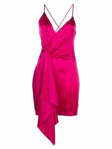 Cushnie Halter silk mini dress - PINK