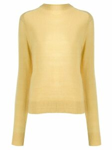 Marc Jacobs crew neck slim-fit jumper - Yellow