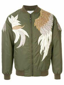Ports V floral embroidered bomber jacket - Green