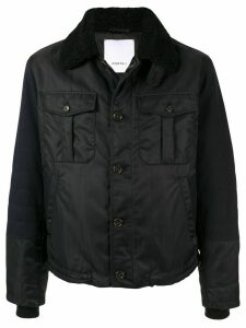 Ports V lined shirt jacket - Black