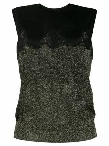 Dolce & Gabbana glittery lace knitted top - Black