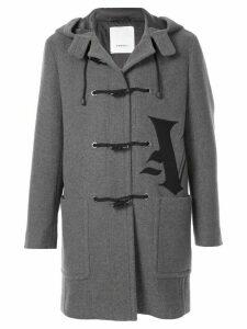 Ports V Gothic V calligraphy duffle coat - Grey