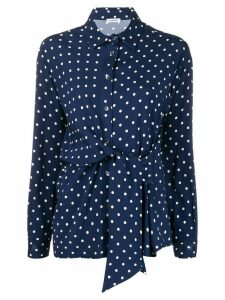 P.A.R.O.S.H. twisted polka dot shirt - Blue