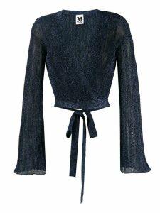 M Missoni fine-knit shimmer cardigan - Blue