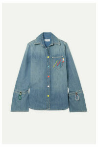 Mira Mikati - Embroidered Denim Shirt - Indigo