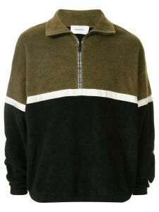 Ports V two-tone fleece top - Green