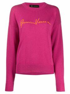 Versace jacquard GV signature jumper - PINK