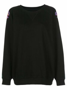 Cynthia Rowley Dylana ribbon stripe sweatshirt - Black