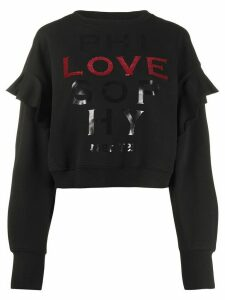 Philosophy Di Lorenzo Serafini Love slogan jumper - Black