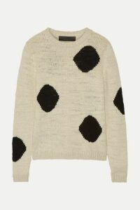 The Elder Statesman - Intarsia Cashmere Sweater - Cream