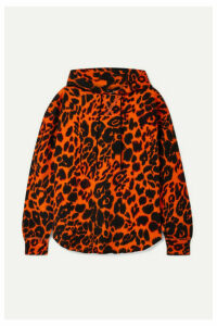 R13 - Oversized Leopard-print Cotton-jersey Hoodie - Orange