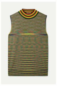 Missoni - Striped Wool Turtleneck Top - Yellow