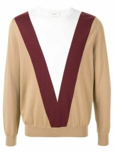 Ports V colour block sweater - Brown