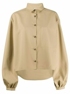Totême balloon sleeves shirt - NEUTRALS