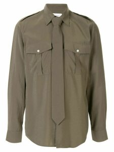 Ports V pointed collar shirt - Green