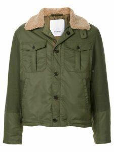 Ports V lined shirt jacket - Green