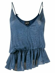 Just Cavalli snakeskin print cami top - Blue