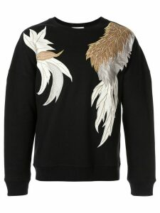 Ports V appliqué crew-neck sweatshirt - Black
