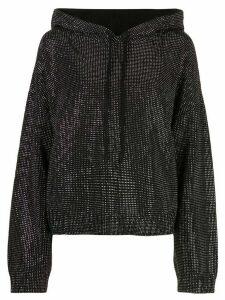 RtA embellished oversized hoodie - Black