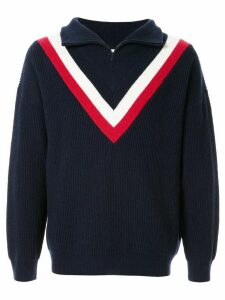 Ports V half-zip jumper - Blue