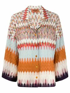 Missoni crochet-knit cardigan - Brown
