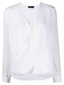 Steffen Schraut draped blouse - White