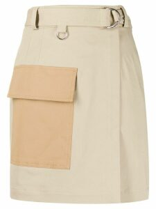 MSGM utility wrap skirt - NEUTRALS