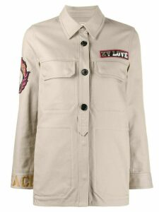 Zadig & Voltaire Tackla button down shirt jacket - Brown