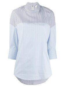 3.1 Phillip Lim patchwork pinstripe blouse - Blue