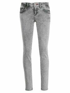 Philipp Plein acid wash skinny jeans - Black