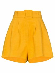 Adriana Degreas high-waisted belted shorts - Yellow