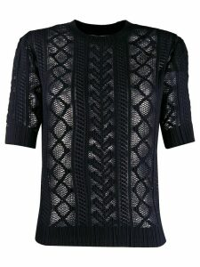 See by Chloé sheer knitted top - Blue
