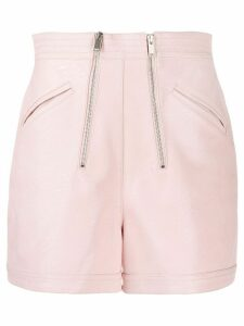 Stella McCartney high waisted zipped shorts - PINK
