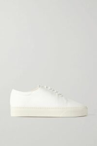 Prada - Striped Metallic Wool-blend Sweater - Blue