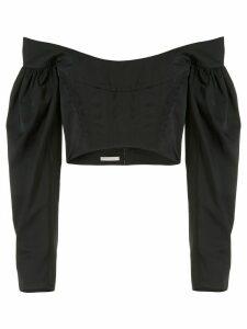 Dion Lee Taffeta Convex bustier top - Black