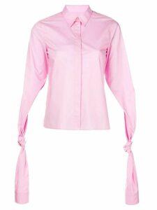 Mm6 Maison Margiela tied sleeve shirt - 242 PINK