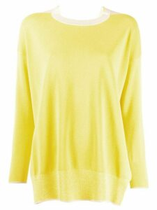 Stella McCartney two-toned oversized jumper - Yellow