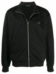 Acne Studios logo patch hoodie - Black