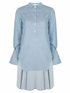Palmer / Harding long button down shirt - Blue