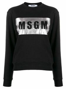 MSGM foil logo print sweatshirt - Black