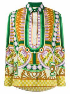 La Doublej Ittica geometric print shirt - NEUTRALS
