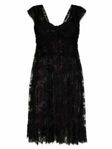 Dolce & Gabbana sheer lace mini dress - Black