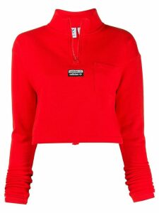 adidas zipped-up jumper - Red