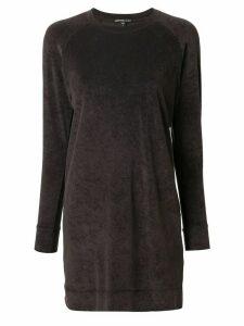 James Perse velvet sweatshirt dress - Green