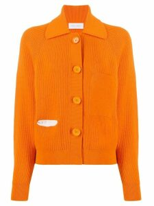 Christian Wijnants long-sleeve knitted cardigan - ORANGE
