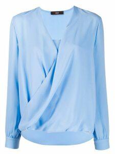 Steffen Schraut draped blouse - Blue