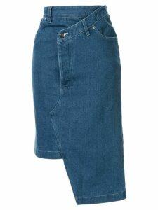 Andrea Crews deconstructed denim midi skirt - Blue
