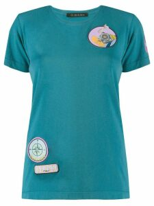 Mr & Mrs Italy embroidered patch T-shirt - Blue