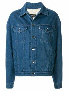 Andrea Crews buttoned logo denim jacket - Blue