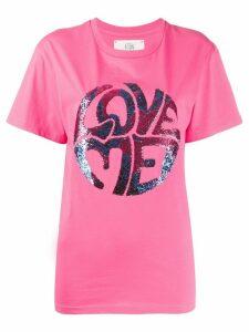 Alberta Ferretti Love Me embellished T-shirt - PINK